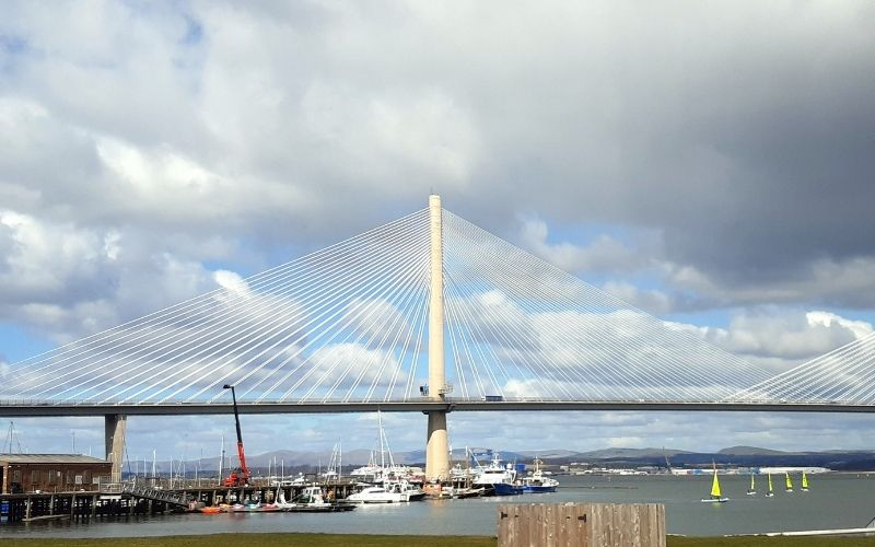 Queensferry Crossing and Port Edgar Marina