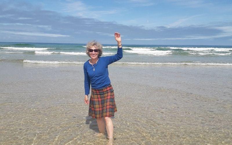 Fun on the beach Lewis (Dalmore beach)