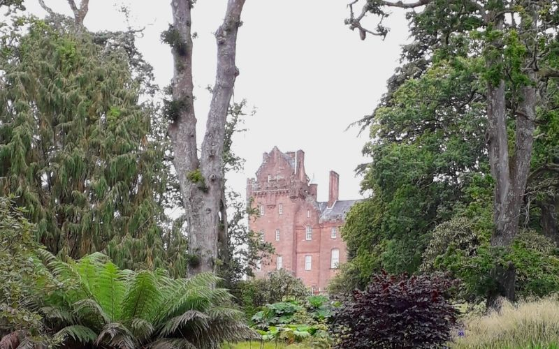 Brodick Castle Tower from the Woods