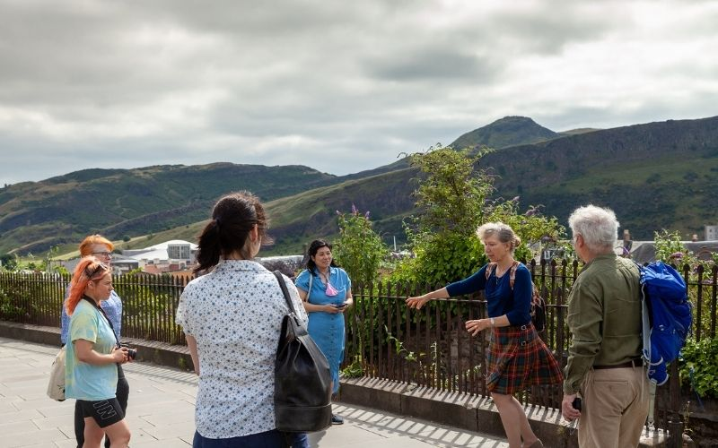View over Holyrood Park in the Centre of Edinburgh
