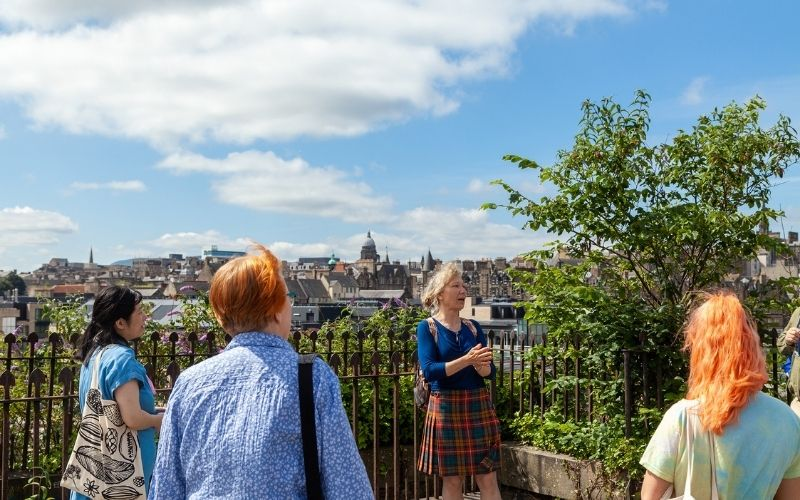View over the Old and the New Town of Edinburgh