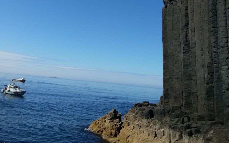 Looking out of Fingal's Cave, Staffa