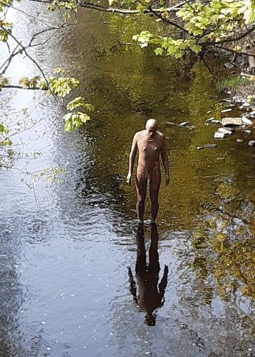 Water of Leith gormley man