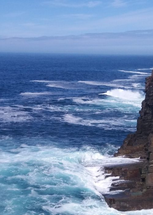 Sea cliffs at Yesnaby