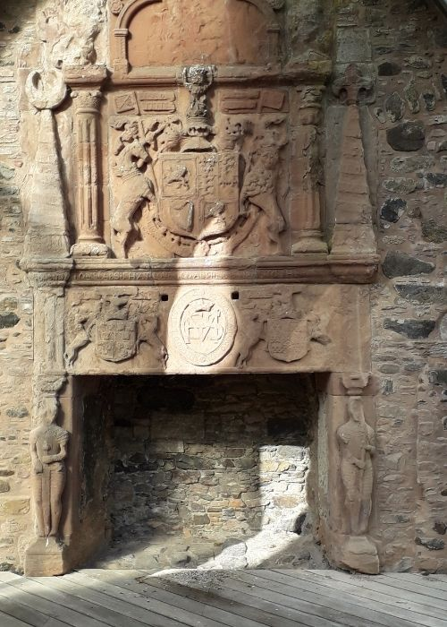 Huntly Castle Fire Place