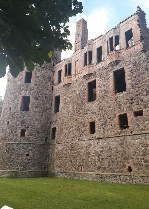 Huntly Castle part view